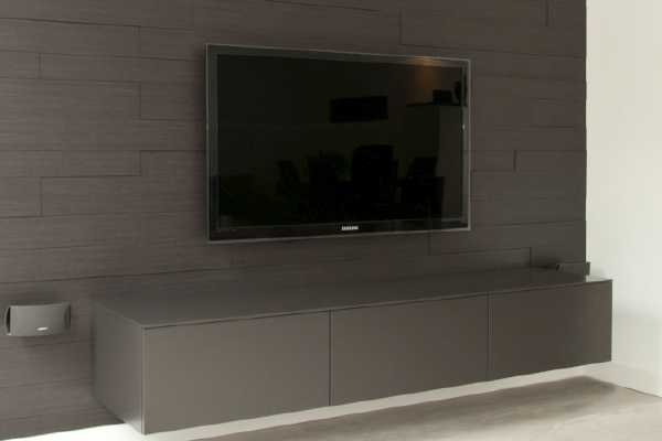 Tv Hangend Affordable Zwevend Tv Meubel Mdf Eiken With Tv