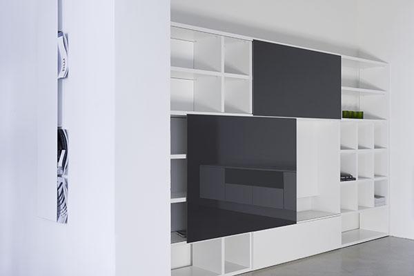 Tv Kast Schuifdeur.Boekenkastfabriek Tv En Opbergkasten Voorbeelden